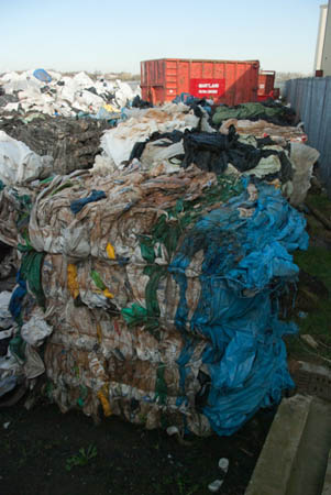 Martlands Waste Transfer Station - recycled material
