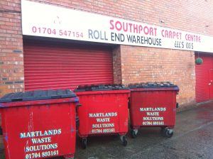 Business & trade waste collections : Southport Carpet Centre are a valued customer of Martlands Waste Solutions.