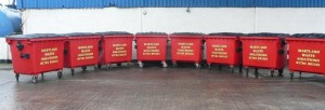 Commercial waste bins supplied by Martland Skip Hire